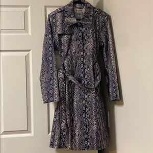 Michael Kors Snakeskin Trench Coat